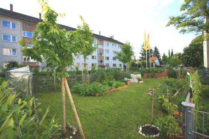 Kindergarten und Kinderkrippe am Biederstein-Schwabing Aussenbereich