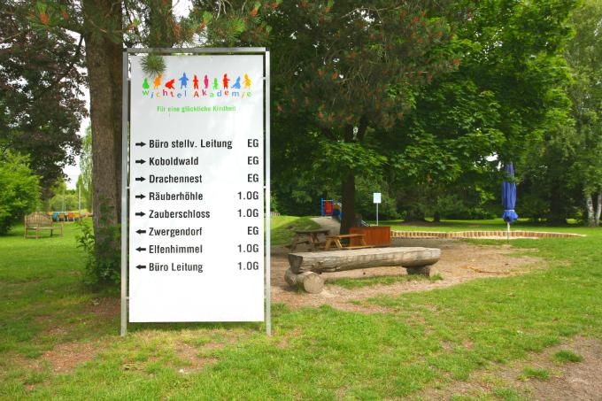 Kinderkrippe und Kindergarten Garching Aussenbereich