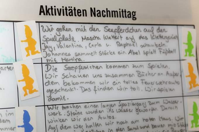 Kindergarten und Kinderkrippe am Biederstein-Schwabing Tagesplan
