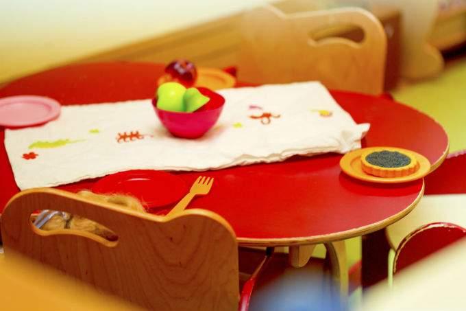 Kinderkrippe München Sendling Kindertisch