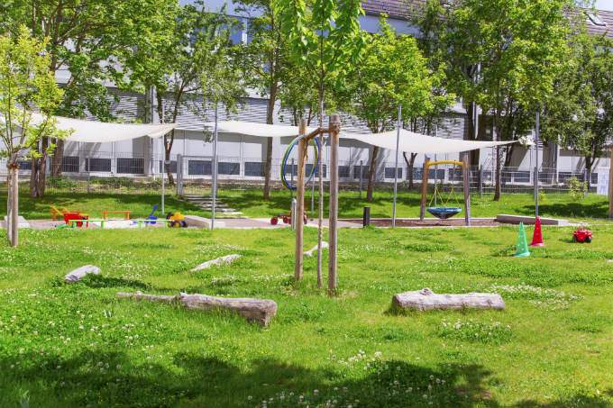 Kindergarten und Kinderkrippe München-Trudering Garten