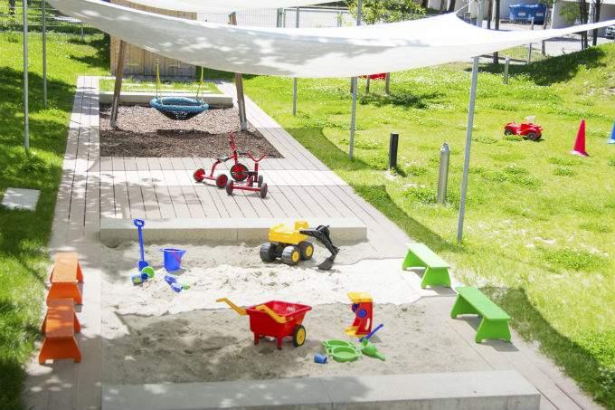 Kindergarten und Kinderkrippe München-Trudering Sandkasten