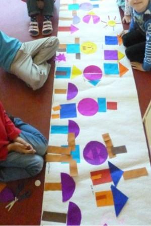 Garching Schulhuepfer kubistische Formen