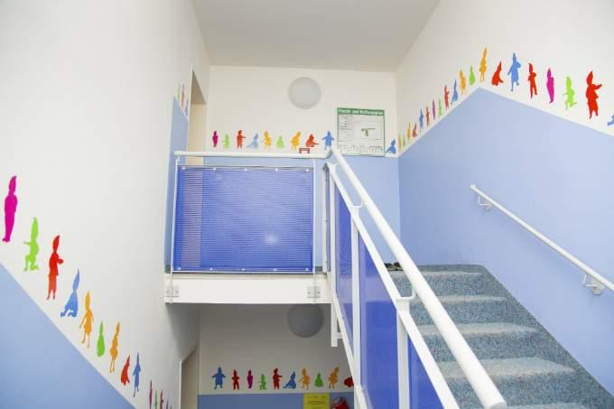 Kinderkrippe und Kindergarten Muenchen Garching Treppenhaus