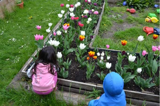 Kinderkrippe Kindergarten Garching Tulpen
