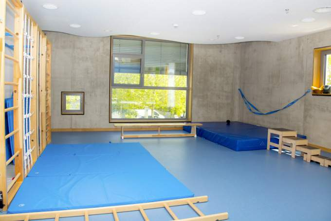 Kinderkrippe Kindergarten parkstadt Schwabing Bewegungsraum