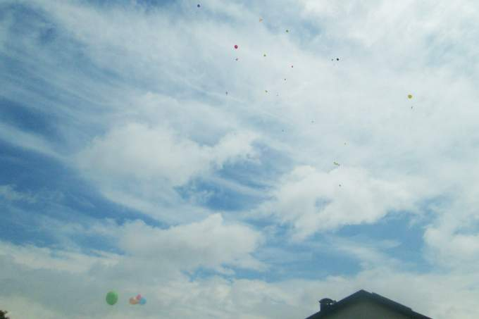 Kinderkrippe Obersendling Sommerfest Luftballons