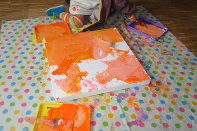 Kinderkrippe Obersendling Sommerfest Malen