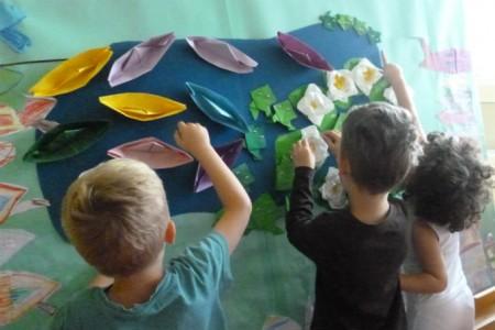 Kita Garching Meer Origami basteln
