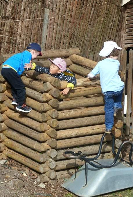 Klettern Kindergartenkind Zutrauen
