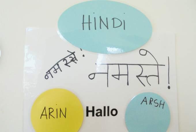 Sprache Identitaet Hindi Kindergarten Schwabing