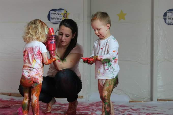 Trudering Farbe spueren Kinderkrippe