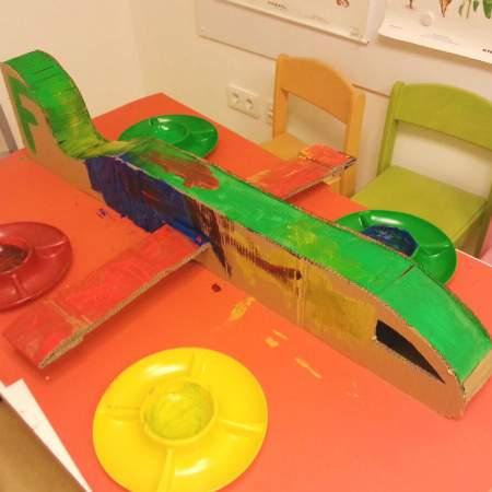 Kindergarten Fuerstenried Flugzeug