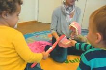 Kinderkrippe Neuhausen - Zähneputzen